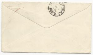Canada Scott #34 x6 Tied on Cover Belleville Ontario January 13, 1893