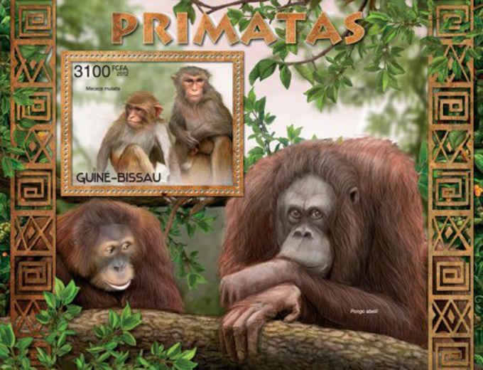 Guinea-Bissau MNH S/S Primates Monkeys 2012
