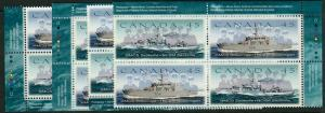 Canada #1763a Mint MS of Imprint Blocks VF-NH 1998 Canadian Naval Reserve