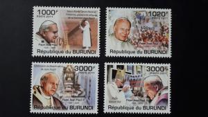 Burundi 2011. - Pope John Paul II ** MNH complete set (perforated)