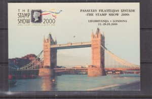 LATVIA, Booklet, 2000 London, 40s. Church x 6