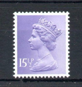 151/2p MACHIN UNMOUNTED MINT WITH FLUORESCENT BRIGHTENER OMITTED Cat £15