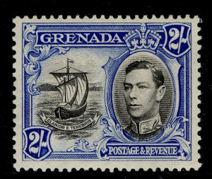 GRENADA GVI SG161a, 2s black and ultramarine, M MINT. Cat £40.