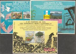 GUATEMALA C577-C588+3SS, EARTHQUAKE AID TO GUATEMALA. MINT, NH (106)