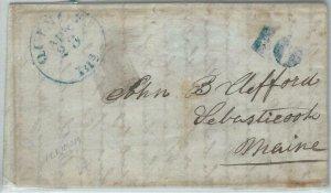 72328 - UNITED STATES USA - PREPHILATELIC Cover:  QUINON , ILL  1800s - 10 BLUE