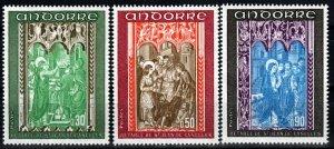 Andorra (Fr) #207-9  MNH  CV $5.25 (X1326)