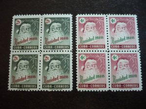 Stamps - Cuba - Scott#532-533 - Mint Hinged Set of 2 Stamps in Blocks of 4