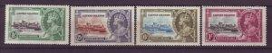 J21938 Jlstamps 1935 cayman island set mnh #81-4 silver jubilee, 2 scans