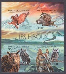 2012 Burundi 2808-2811KLb Birds / Owl 15,00 €