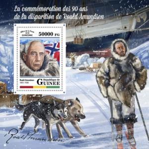 GUINEA - 2018 - Roald Amundsen - Perf Souv Sheet - MNH