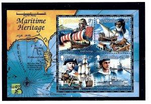 Gibraltar 801a MNH 1999 Maritime Heritage S/S