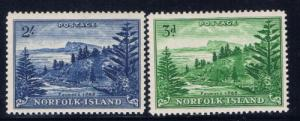 Norfolk Is 23-24 Hinged 1959 set