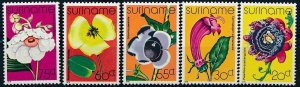 [I835] Suriname 1978 Flowers good set of stamps very fine MNH