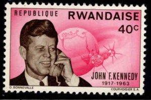 RWANDA Scott 131 MH*  US President JFK stamp
