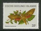 Cocos Is - 1982 Butterflies and Moths (35c) (MNH)