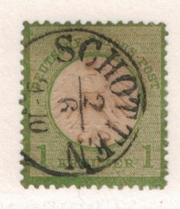 Germany Stamp Scott #7, Used, Thin, Schotten Cancel - Free U.S. Shipping, F...