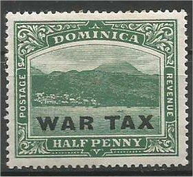 DOMINICA, 1918, MH 1/2p, WAR TAX l, Scott MR3