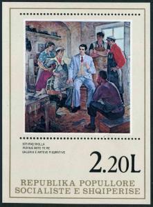 Albania 1846,MNH.Michel Bl.64. Working Class paintings,1978.By Sotiraq Sholla.