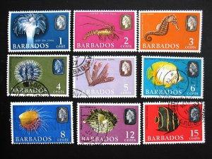 BARBADOS - SCOTT#267-280 - CS - USED - CAT VAL $13.80