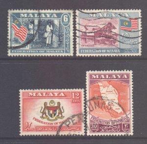 Malaya Federation Scott 80/83 - SG1/4, 1957 Set used