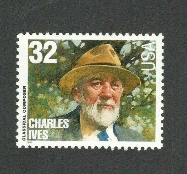 3164 Charles Ives Composer US Single Mint/nh FREE SHIPPING