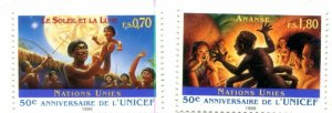 United Nations Geneva Scott #294-295 50th Anniversary of UNICEF MNH
