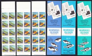 Marshall Is. Fish 3 Booklets 2nd issue 1988 SG#150=158