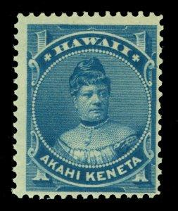 HAWAII 1882  Princess Likelike  1c blue  Scott # 37 mint MNH