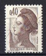 France  #1788  used  1982  Liberty    40c