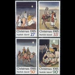 NORFOLK IS. 1985 - Scott# 373-6 Christmas Set of 4 NH