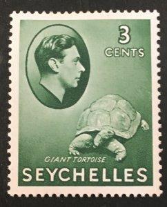 Seychelles Scott 126 KGVI 3 Cent-Mint