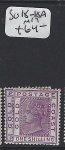 GOLD COAST (P0305B)  QV  1/-    SG 18-18A   MOG