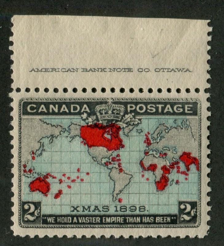 Canada #86 2c Blue,Car. & Blk. 1898 Christmas - Major Re-Entry VF-80 NH Impt