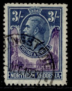 NORTHERN RHODESIA GV SG13, 3s violet & blue, FINE USED. Cat £27.