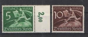 Germany 1939 Newspaper Stamps Sc #P1 & P2 MNH VF