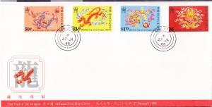 Hong Kong 1998 Year of the Tiger  set on FDC
