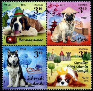 HERRICKSTAMP NEW ISSUES CROATIA Children's Pets 2019 - Dogs