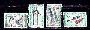 Gabon C96-99 MNH 1970 Weapons    (ap2026)