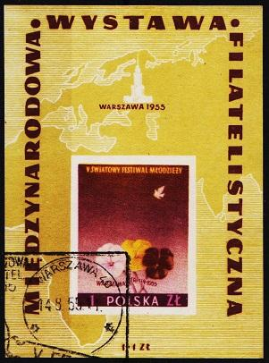 Poland. 1955 Miniature Sheet. S.G.MS944a Fine Used