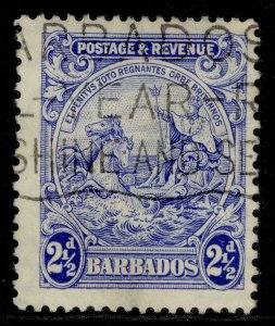 BARBADOS GV SG233a, 2½d bright ultramarine, FINE USED.