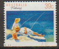 Australia SG 1179a FU - booklet stamp bottom imperf - per...