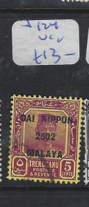 MALAYA JAPANESE OCCUPATION TRENGGANU (P2209B) 5C DN  SG J124   VFU