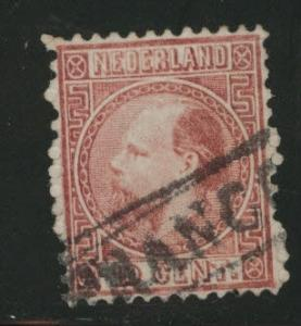 Netherlands Scott 8a used 1867 stamp perf 12.5x12