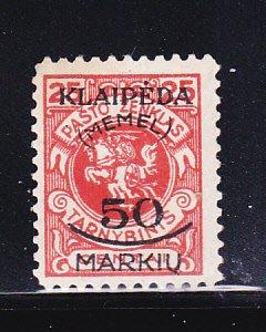 Memel N3 MH Lithuanian Occupation