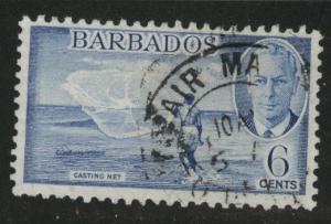 Barbados Scott 220 Used fishing net stamp