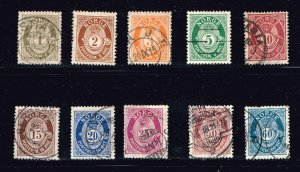 NORWAY STAMP OLD USED STAMP COLLECTION LOT  #M1