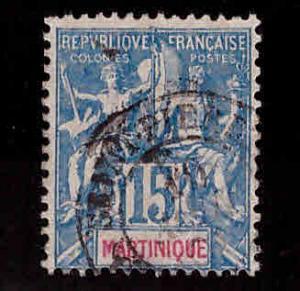 Martinique Scott 40 used On Quadrile Paper