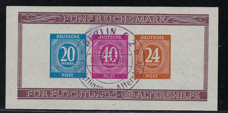 Germany AM Post Scott # B295, s/s, special cancel, exp. h/s