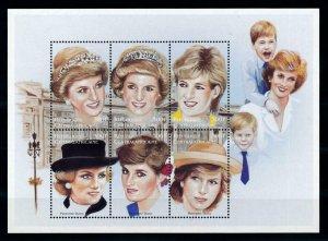 [101354] Central African Rep. 1997 Royalty Princess Diana Sheet MNH