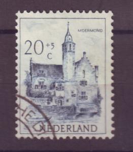 J15691 JLstamps 1951 netherlands hv of set used #b228 castle